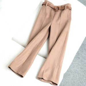 Pants - high waist rise wide leg straight cut fit pant